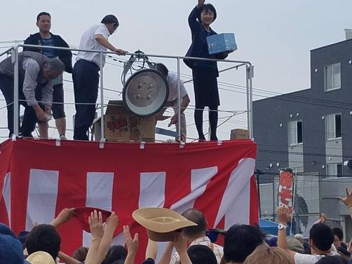 しほろっち夏祭り(士幌町)の中川郁子(ゆうこ)写真