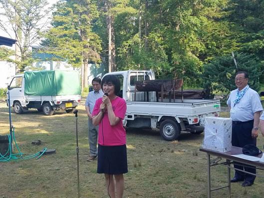 本別後援会野遊会の中川郁子(ゆうこ)写真