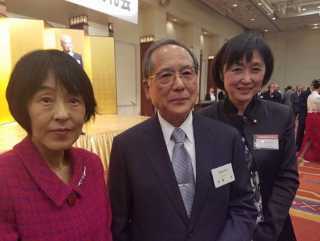 北海道医師会新年交礼会の中川郁子(ゆうこ)写真