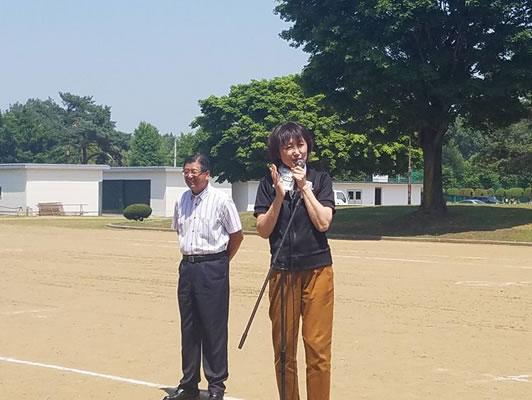 音更後援会野遊会の中川郁子(ゆうこ)写真