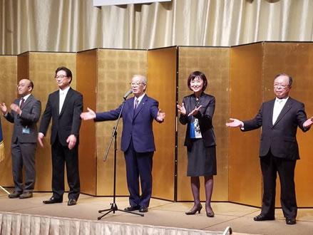 帯広市新年交礼会へ参加の中川郁子(ゆうこ)写真