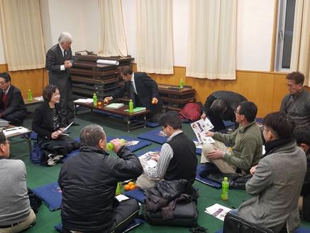 帯広・清川地区でのお茶懇の中川郁子(ゆうこ)写真