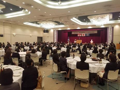 十勝地区郵便局長会・夫人会通常総会懇親会の中川郁子(ゆうこ)写真