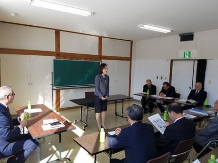 大樹後援会総会の中川郁子(ゆうこ)写真