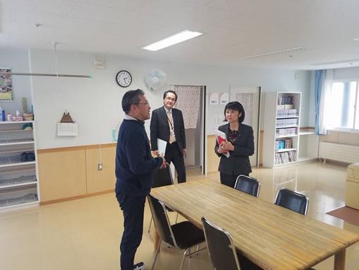 帯広児童相談所視察 の中川郁子(ゆうこ)写真