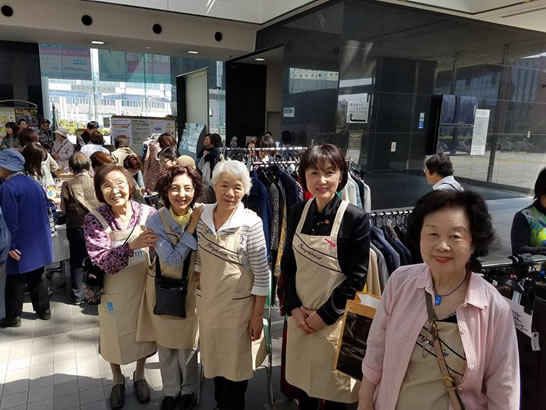 国際ソロプチミスト帯広主催トカトカフェスタ2017の中川郁子(ゆうこ)写真