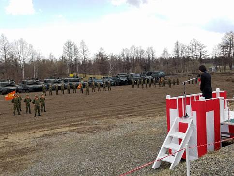 陸上自衛隊鹿追駐屯地創立60周年記念式典の中川郁子(ゆうこ)写真