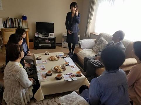 帯広市内お茶懇の中川郁子(ゆうこ)写真