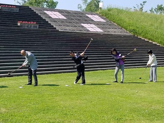 北海道知事杯パークゴルフ国際大会の中川郁子(ゆうこ)写真