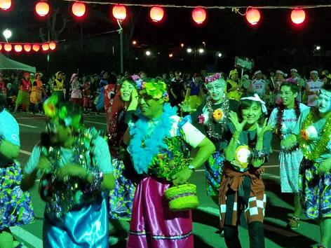 上士幌町盆踊り大会の中川郁子(ゆうこ)写真
