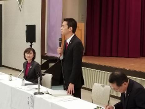十勝農協組合長会の皆さま意見会の中川郁子(ゆうこ)写真