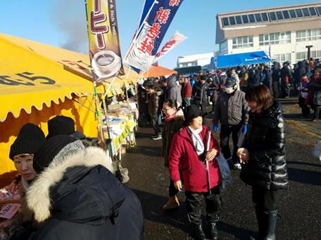 広尾毛ガニ祭りの中川郁子(ゆうこ)写真