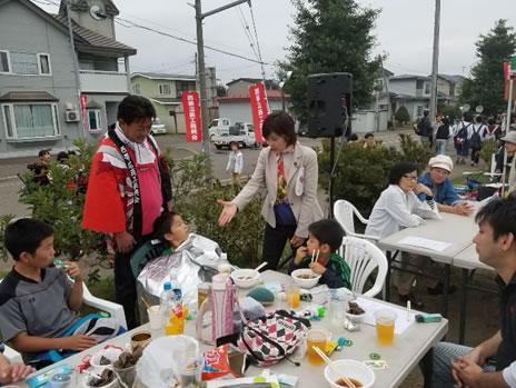 伏古祭り、西帯広商店街のお祭りの中川郁子(ゆうこ)写真