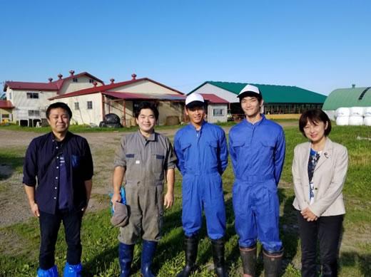 地域医療と酪農を体験  広尾町の菊地ファームの中川郁子(ゆうこ)写真