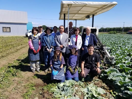芽室町の若手生産者さんの中川郁子(ゆうこ)写真