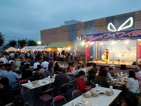 暑さを吹き飛ばそうワイワイ祭り(帯広)の中川郁子(ゆうこ)写真