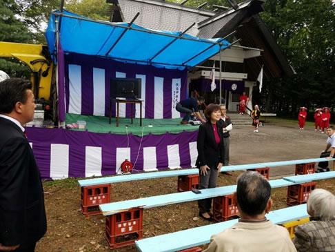 伏古神社祭りの中川郁子(ゆうこ)写真