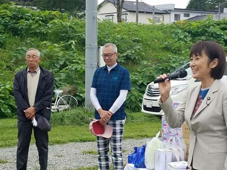 大樹町酒森町長のパークゴルフ会の中川郁子(ゆうこ)写真