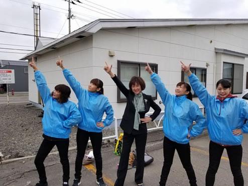 芽室町長選挙、町議会議員補欠選挙本日告示の中川郁子(ゆうこ)写真