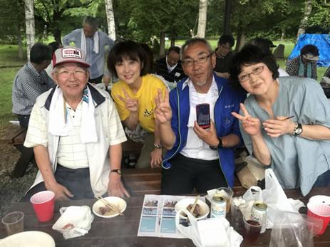 「心ひとつ」の楽しい野遊会(幕別後援会)の中川郁子(ゆうこ)写真