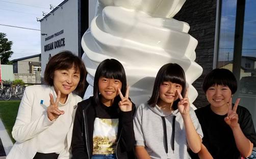 上士幌町にて自民党政策懇談会の中川郁子(ゆうこ)写真