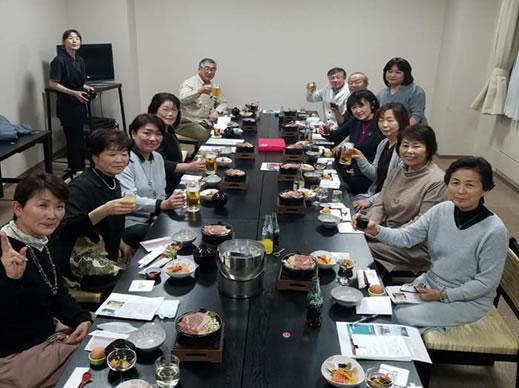 上士幌町女性部恒例お泊まり会の中川郁子(ゆうこ)写真