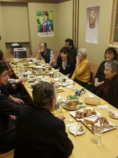 自民党中札内支部の総会の中川郁子(ゆうこ)写真