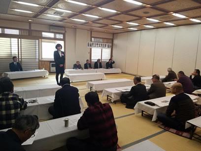 自民党上士幌支部、本別支部、幕別支部各総会の中川郁子(ゆうこ)写真