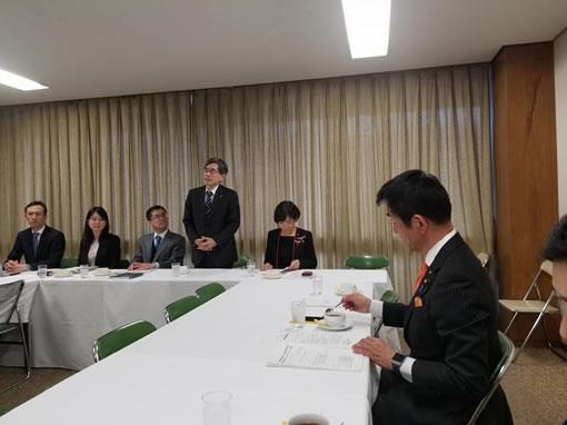 「宇宙法制ワーキングチーム」役員会の中川郁子(ゆうこ)写真