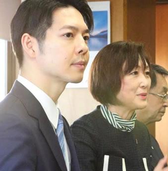 北海道知事選挙候補予定者の鈴木直道さんが2月16日、初の十勝入り。の中川郁子(ゆうこ)写真