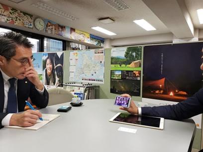 帯広東京事務所訪問の中川郁子(ゆうこ)写真