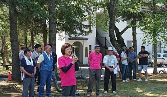 本別自民党支部・中川ゆうこ後援会合同野遊会の中川郁子(ゆうこ)写真