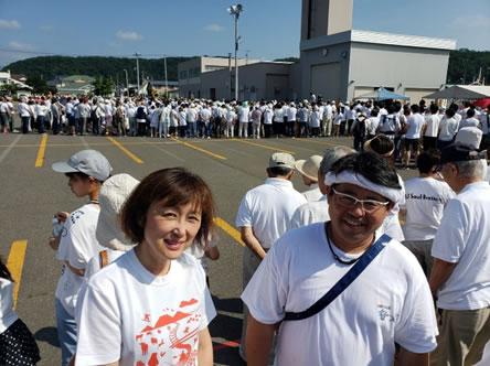 新得開拓120周年記念事業に参加中の中川郁子(ゆうこ)写真