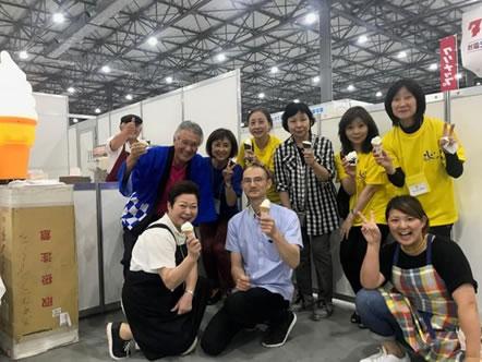 東京ビッグサイトで十勝みらいMARCHE(橋本総業みらい市)開催の中川郁子(ゆうこ)写真
