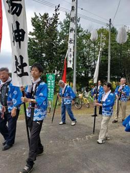音更神社の例大祭の中川郁子(ゆうこ)写真