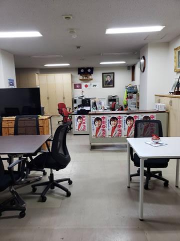 大掃除の後の中川郁子(ゆうこ)事務所